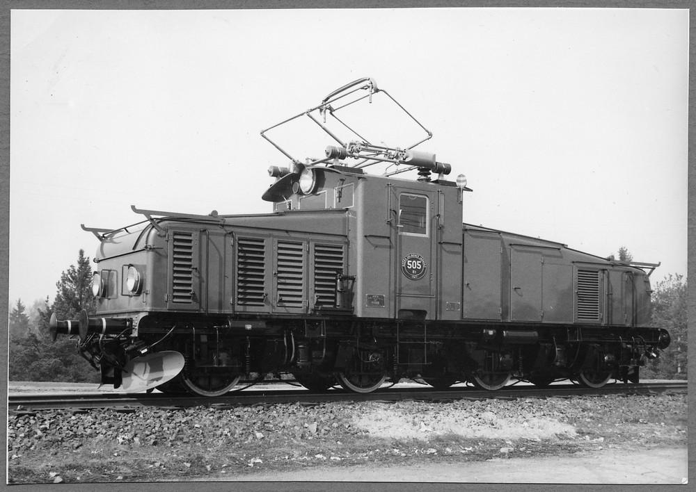 Södra Dalarnas Järnväg Hg 505, leveransfoto 1948. Sedermera SJ Hg 757. Källa Samlingsportalen Jvm.KDAJ03297