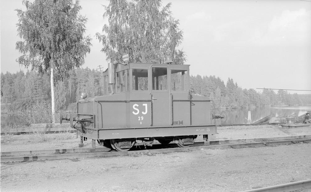 SJ Z 29 i Skåre 1960. Foto Stig Eldö, Samlingsportalen Jvm.KBDA00973